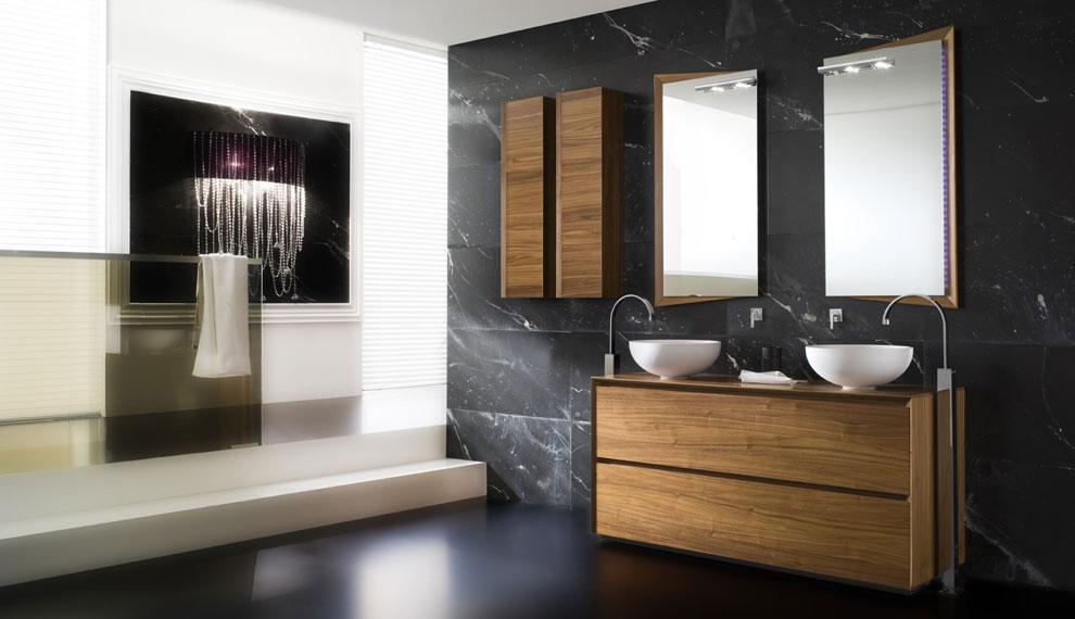 Bagno Legno E Grigio : Bagni moderni beige. progetto di di bagno particolare con ciottoli